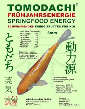 Tomodachi Frühjahrsfutter für Koi - Schwimmfutter mit Spirulina und arktischen Rohstoffen