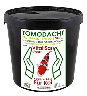 Antibakterielles Energiefutter für Koi im Frühjahr mit Vitalisan Monoglyceriden