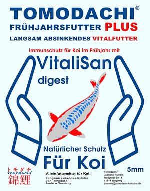 Tomodachi Gesundheitsfutter für Koi im Frühjahr mit Vitalisan Digest