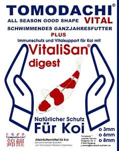 Tomodachi All Season Vital antibakterielles Gesundheitsfutter für Koi jeden Alters.
